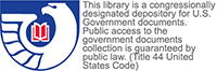 This library is a congressionally designated depository for U.S. Government documents.