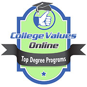 College Values Online Top Degree Programs Badge