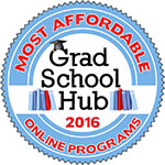 Grad School Hub Most Affordable Online Programs 2016 badge