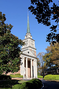 The carillon at First Presbyterian Church