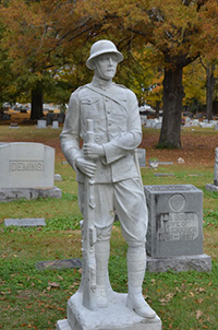 Doughboy, Lemmons tombstone, Hollywood Cemetery, Jackson, Tennessee